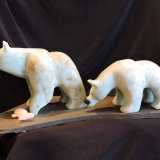 Fishing With Mom<BR>B.C.Soapstone <BR>Sold